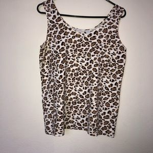 Chico's Cheetah print stretch camisole size 2 lg